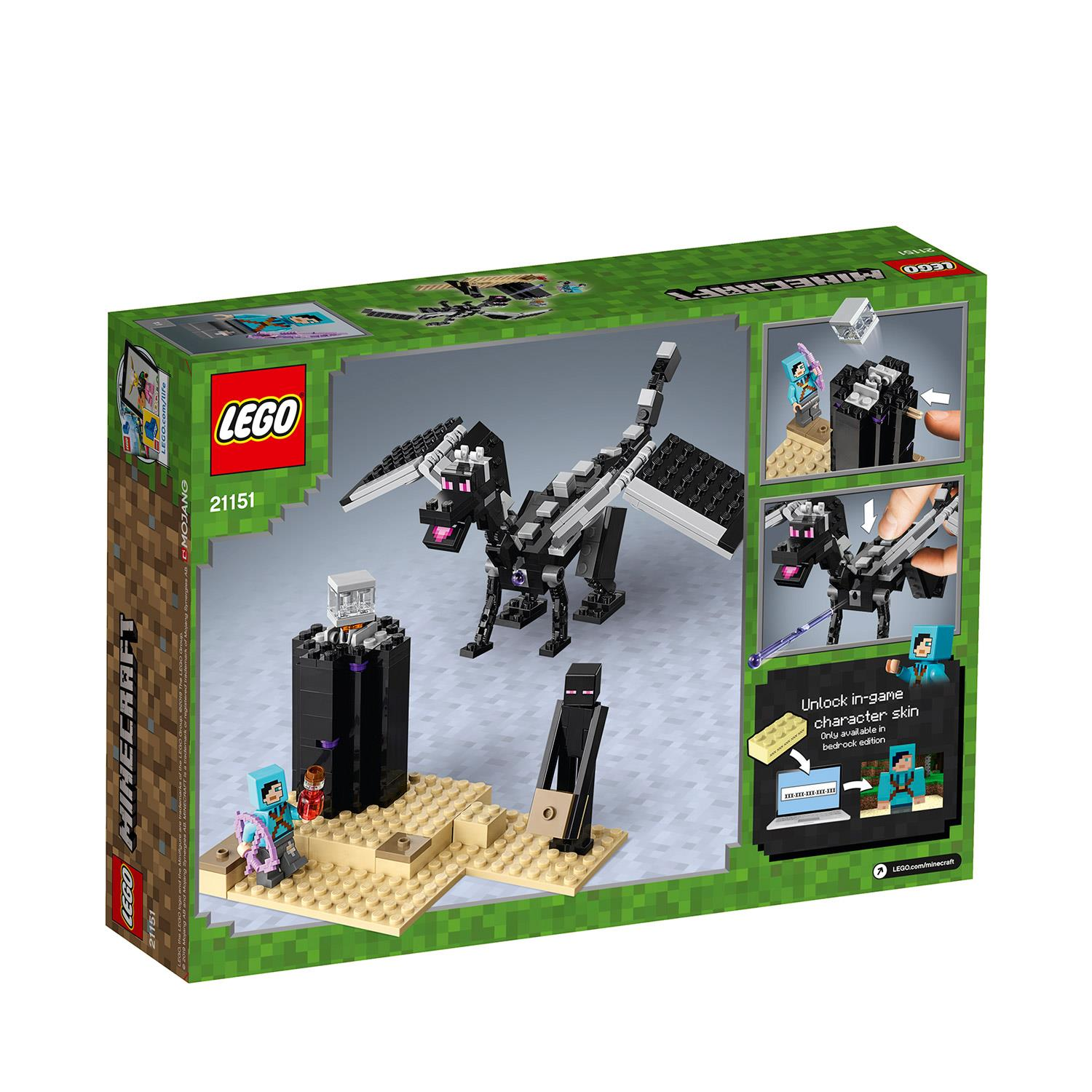 LEGO Minecraft The End Battle 21151 Building Kit 222 Piece