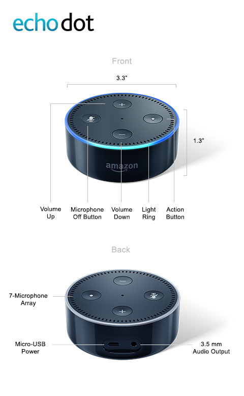 Smart Speaker with Alexa 2nd Generation All 3 Colors Amazon Echo